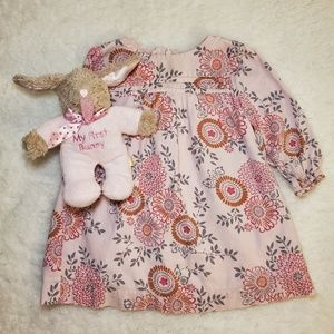 Toddler Long Sleeve Floral Dress /Bloomers